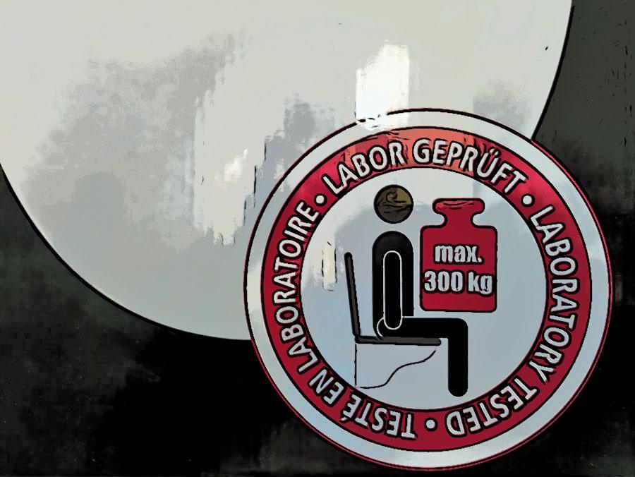 WC-Sitz Schwergewichte